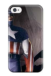 [zslgMrt9548ghTMe]premium Phone Case For Iphone 4/4s/ Captain America Tpu Case Cover