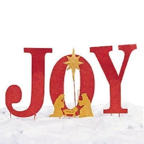 Joy Yard Sign Christmas Holiday Home Decor by AIM Outdoor Christmas Decorations Joy Sign