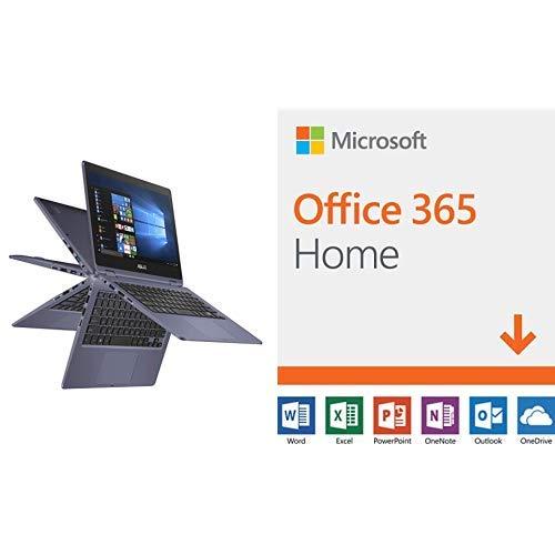 "Asus Vivobook Flip Thin & Light 2-in-1 Laptop - 11.6"" Hd Touchscreen, Intel Dual-core Celeron N3350 Processor, 4gb Ram, 64gb Emmc Storage, Windows 10 In S Mode, Office 365 - J202na-dh01t"