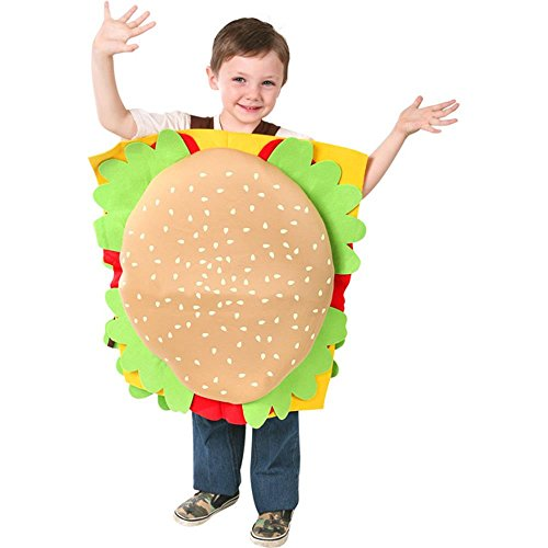 Childs Hamburger Costume, Size Youth Medium 7-10 -