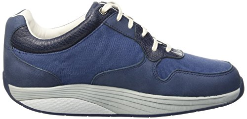 MBT Herren Said Durchgängies Plateau Pumps Blau (Denim Blue/White)