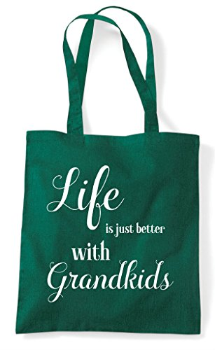 Bag Green Is Tote Family With Dark Shopper Grandkids Statement Just Life Better RPqd8Rw