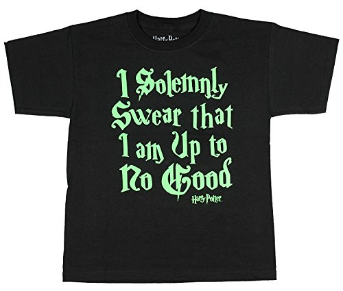 Harry Potter Solemnly Swear Boys Graphic Tee (6/7), Black