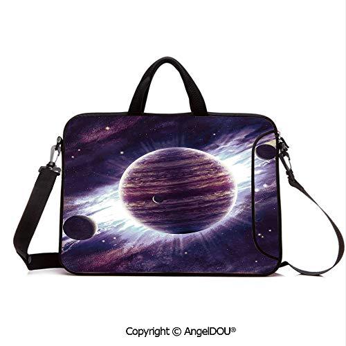 - AngelDOU Customized Neoprene Printed Laptop Bag Notebook Handbag Outer Space Theme Planets Saturn Mars Neptune Science Fiction Solar Scene Artpri Compatible with mac air mi pro/Lenovo/asus/acer M