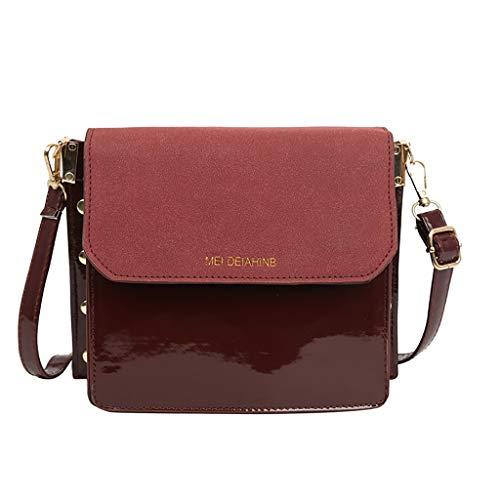 a tracolla taglia Borsa Cwemimifa Handbag donna rossa marrone per unica xgtUBEwnB