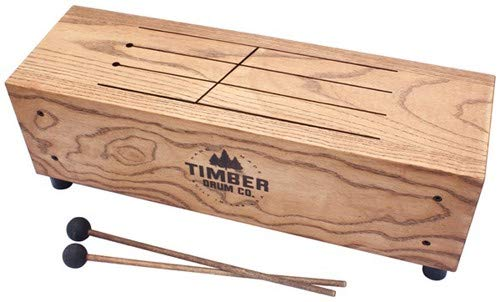 (Timber Drum Company T18-M Made in USA Slit Tongue Log Drum with Mallets (VIDEO))