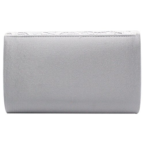 Bagnavy Evening Lace Envelope Women Design Case Wiwsi Hollow Purse Clutch Fashion silver q8w7nBv