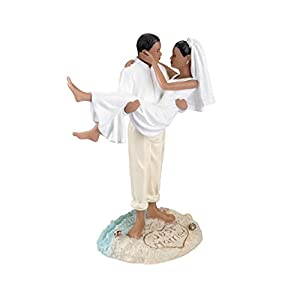 413O23H1KVL._SS300_ Beach Wedding Cake Toppers & Nautical Cake Toppers