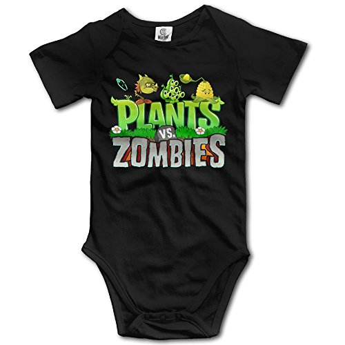 Grace Little Plants Vs. Zombies Unisex Fashion Newborn Baby Romper Baby Girl Jumpsuit 18 Months Black -