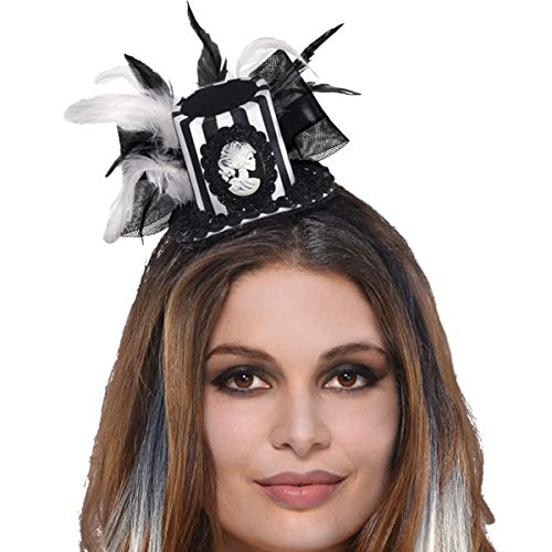 amscan Black & Bone Mini Top Hat -