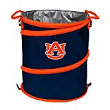 Logo Brands NCAA Auburn Tigers 3-n-1 Collapsible Trash Can, Orange