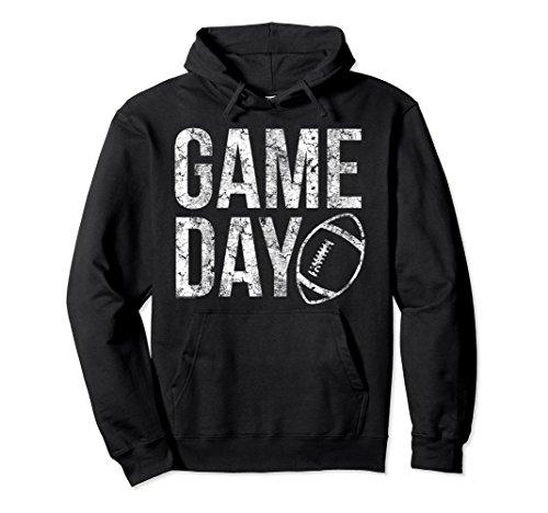 Unisex Game Day Football Hoodie Sweatshirt XL: Black