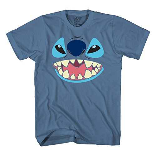 Disney Lilo and Stitch Big Face Costume T-Shirt (Large, Blue) ()
