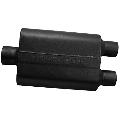(Flowmaster 8430452 Super 44 Series Muffler 409S - 3.00 Center IN/2.50 Dual OUT - Aggressive Sound )