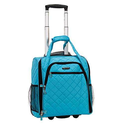 Rockland Melrose Wheeled Underseat Carry-on, Turquoise
