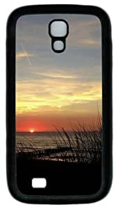 Grassy Sunset TPU Case Cover for Samsung Galaxy S4 and Samsung Galaxy I9500 Black