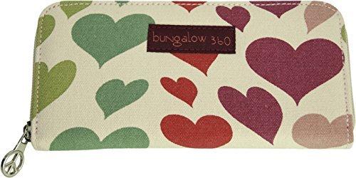 Heart Girl Wallet (Bungalow360 Zip Around Wallet - Heart)