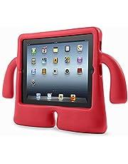 لأجهزة آيباد 2 3 4 - حافظة أطفال صديقة للصدمات مصنوعة من أسيتات إيثيلين-فاينيل - أحمر