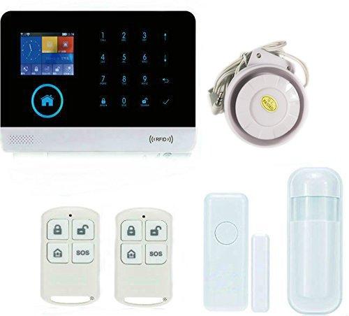 yobangsecurity 433MHz WiFi 3G WCDMA/Teléfono CDMA 2-en-1sistema de alarma inalámbrico visualización LCD Teclado...