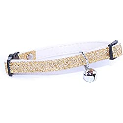 Pet Palace Glitter Collar For Cats Who Relish The Nightlife Giddy Gold