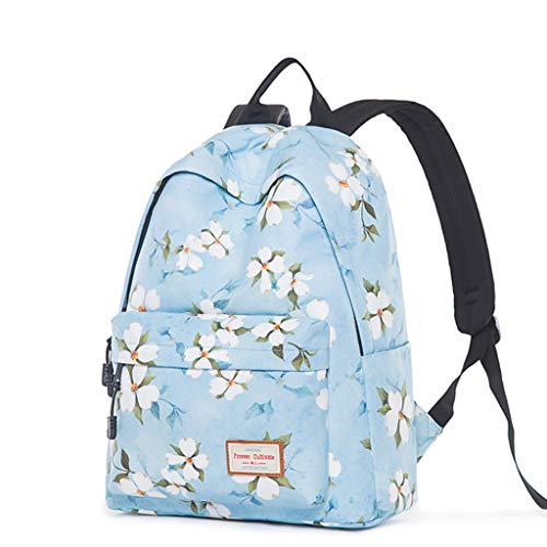Fashion Flower Plant Prints Primary School Laptop Backpacks for Students Girls Schoolbag rucksack college students with water bottle pocket (A15) ()