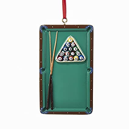Pool Table Pocket Billiards Christmas Tree Ornament Game Cue Sports W8210  New