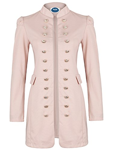Militaire Massimo Style Blazer Xl Slim S Ao Coat Long Rose 4tuality Taille Fit fXTqxanwX