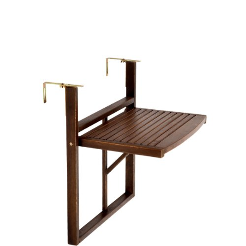 BUTLERS LODGE Mesa plegable para barandilla de balcón (marrón)