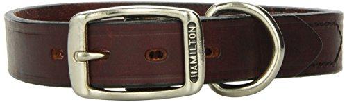Hamilton LM1 24BU 1-Inch x 24-Inch Creased Burgundy Leather Dog Collar