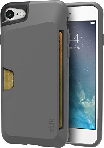 Silk iPhone 7/8 Wallet Case - Wallet Slayer Vol. 1 [Slim + Protective + Grip] Credit Card Holder for Apple iPhone 8/7 - Gun Metal - Case Apart Pull