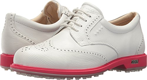 ECCO Women's Classic Hybrid Golf Shoe, White/Teaberry 38 M EU (7-7.5 US)