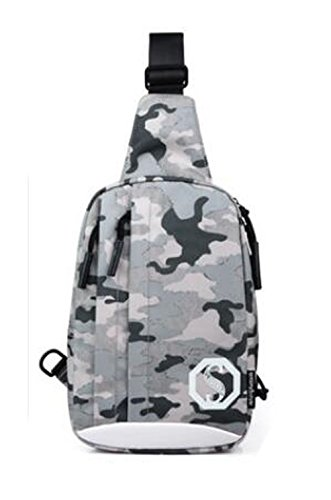 pattern Hombre camouflage Bolso Beige Hiking and Leisure bandolera Niño Mujer Ynqzax