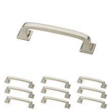 "Franklin Brass P29521K-SN-B Pull with Square Feet, 3"" (76mm), Brushed Nickel, 10 Piece"