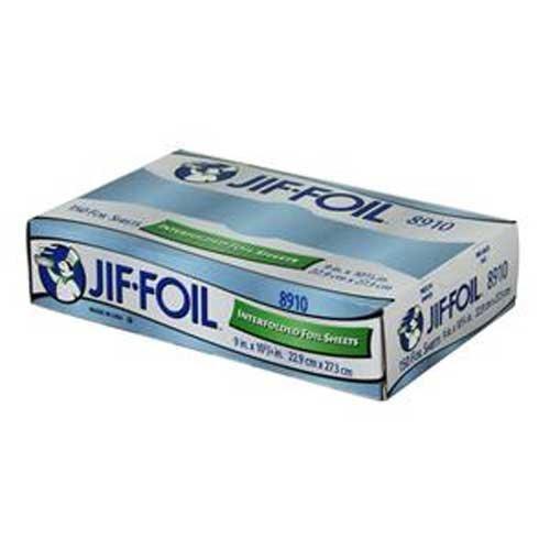Jiffy Foil 150 Interfolded Foil Sheets 9 x 10.75 -- 12 per case. by Handi-Foil