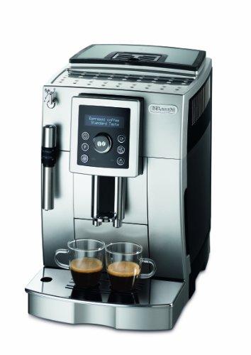 DeLonghi ECAM 23.420.SB Kaffee-Vollautomat (1,8 Liter, Cappuccino, Dampfdüse) silber/schwarz