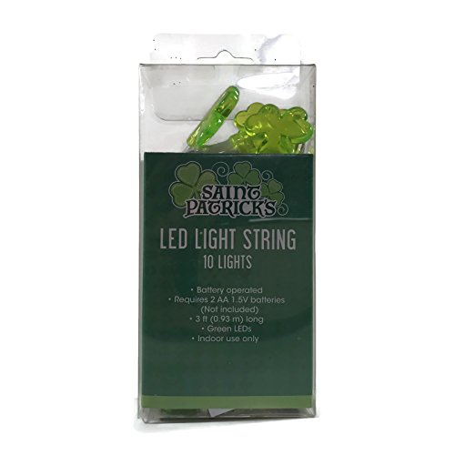 Greenbrier St Patrick's Day LED String Lights 10 lights Battery Operated