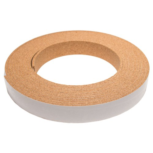 CORK STRIPPING WITH ADHESIVE - 1/8IN THICK X 1IN WIDE X 20FT LONG by The Felt Store