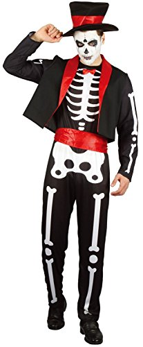 U LOOK UGLY TODAY Mens Halloween Costume Skeleton Cosplay for Adult Fancy Party Dress One Size