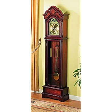 Coaster 900749 Traditional Grandfather Clock, Cherry