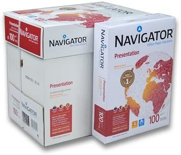 Caja 2500 Folios Navigator Presentation 5x Paquete 500 hojas 100 g ...