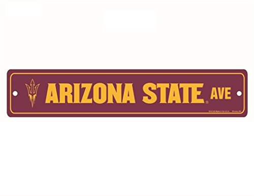 WinCraft NCAA Arizona State Sun Devils Full Color Street Sign, 3.75 x 19 Red -