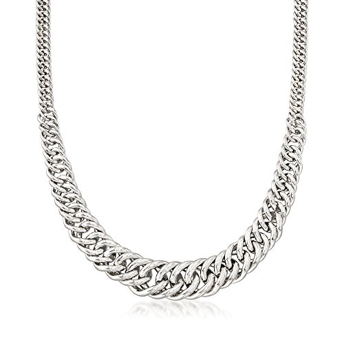 Graduated Link Curb (Ross-Simons Italian Sterling Silver Graduated Curb-Link Necklace)