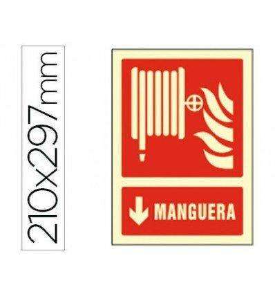 PICTOGRAMA SYSSA SEÑAL DE MANGUERA EN PVC FOTOLUMINISCENTE 210X297 MM