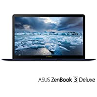 ASUS UX490UA-IH74-BL ZenBook 3 Deluxe 14' FHD Ultraportable Laptop, Intel Core i7-8550U, 16GB RAM, 512GB SSD, Windows 10 Pro, Royal Blue