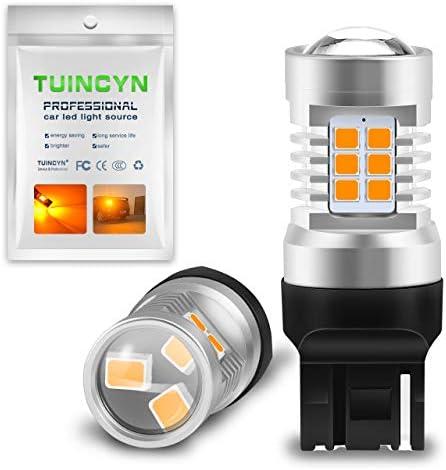 NATGIC Auto LED Bulb 2PCS BAU15S 1156 7507 PY21W 12496 5009 7507AST 2835 21 SMD Chipsets LED Bulbs with Lens Projector Brake Turn Signal Tail Backup Reverse Lights,Amber 10-16V 10.5W