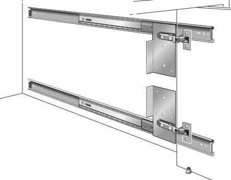 Kv Pivot Door Slide Hardware Inset Application Self Closing 18 1/8'' Slide (Kit) Anochrome