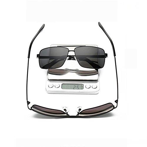Grandes Los Vidrios Retro De Del Sol Gafas Polarizados Hombres Sol De Clásicos De De Gafas Gafas Marco Black De Las Black Polarizador Conducción De Sol Y7vpq7