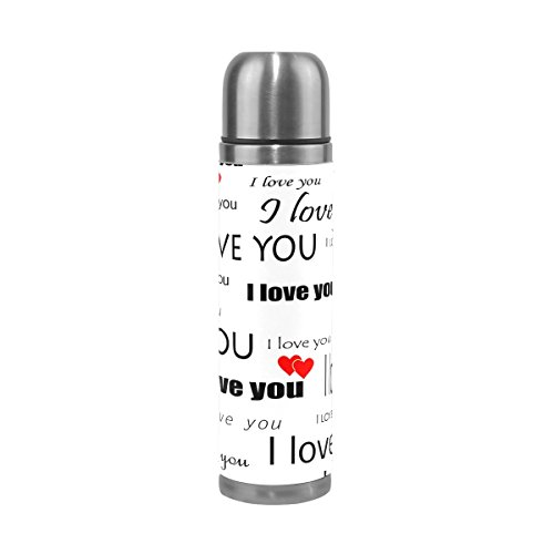 ALAZA Wallpaper Valentine With Heart Stainless Steel Water B