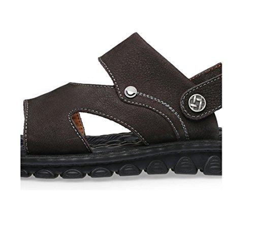 zmlsc Hommes Business Brown Plate de pour Pieds Slip Décontractées Forme Plage Voyage Chaussures Sandals pwrHvqXp