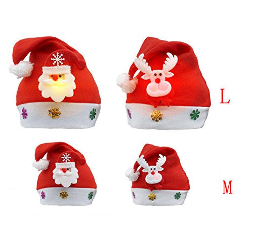 LED Christmas Hat 4 pack (Christmas Hats)